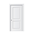 object white door vector image