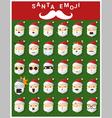 Santa claus emoji icons vector image