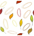 Seamless pattern with fall leaves vector image