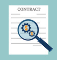 Preparation business contract vector image vector image