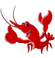 Funny shrimp cartoon character vector image vector image