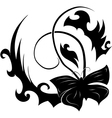 abstract black butterfly vector image