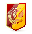 Coat of arms Soviet Union and Russia vector image