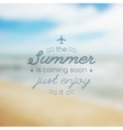summer is coming soon text vector image vector image