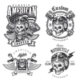 Set of Vintage motorcycle t-shirt prints vector image