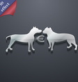 Betting on dog fighting icon symbol 3D style vector image