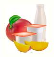 yogurt flavors vector image