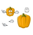 Cartoon sweet yellow bell pepper vegetable vector image