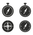 compass icons set vector image