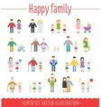 Family set infographics vector image