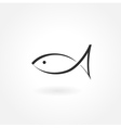 fish symbol icon simple vector image