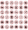 Forbidden Signs vector image