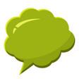 green speech bubble icon cartoon style vector image