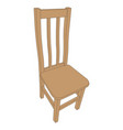 image of an old wooden chair vector image