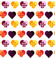 Seamless geometric pattern with heartsfancy heart vector image