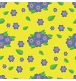 Seamless pattern Blue flowers vector image