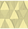 Seamless patterns set Geometric graphic textures vector image