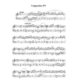 Music note sheet with abstract melody on white vector image