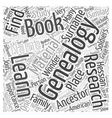 Genealogy book Word Cloud Concept vector image