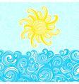 Summer background sea sun waves vector image