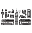England London UK set of icons vector image