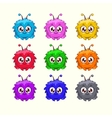 Colorful characters vector image vector image