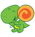 Dinosaur and Candy vector image