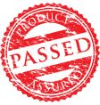 passed logo vector image