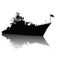 Detailed ship silhouette vector image