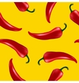 seamless pattern with red chilli pepper vector image