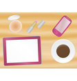 female office table vector image vector image