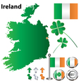Ireland map small vector image vector image