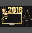 black and gold snowflake for christmas season vector image