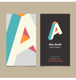 business card letter A vector image