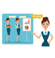 business women characters business vector image