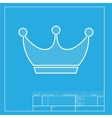 King crown sign White section of icon on vector image