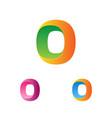 letter o logo template logotype set trendy vector image