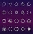 Polygons and polygrams sacred geometry set vector image