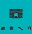 road tunnel icon flat vector image
