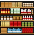 Supermarket Shelfs Shelves with Products vector image