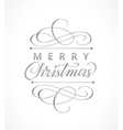 Merry christmas card with typographic design vector image