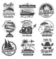 vintage travel logo set vector image