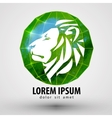 lion logo design template animal or Zoo vector image