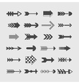 Set of direction arrows icons vector image