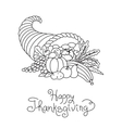Doodle Thanksgiving Cornucopia Freehand vector image
