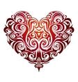 Heart shape ornament vector image vector image