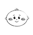 figure cute baby boy face with expression vector image