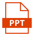 File name extension ppt type vector image