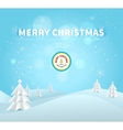 Merry Christmas 2015 greeting card vector image