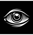 Monochrome of eye vector image